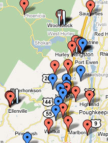 Map of Local CSAs, Food Pantries & Soup Kitchens