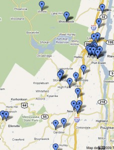 Map of Ulster County Volunteer Opportunities