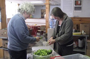 Elana and Penny helping to prepare lunch at Queens Galley, MLK National Day of Service, 2010. Thank you so much to everyone who volunteered their time!