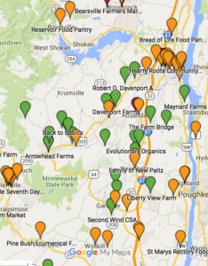 Map of Local Farms, Food Pantries & Soup Kitchens