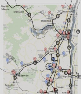 Map of local food pantries & UCAT bus lines