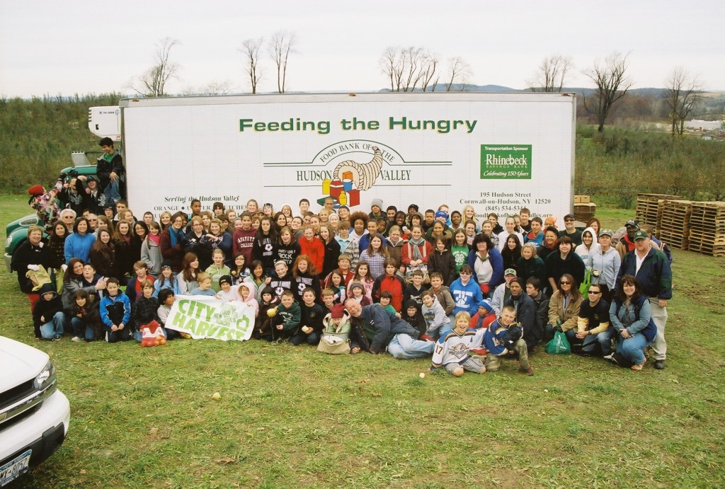 300 people showed up to harvest for the hungry.  We picked 62 bins of apples on Veterans Day. . .roughly 62,000 lbs!
