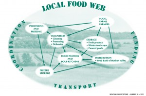 Local Food Web map created by Mohonk Consultations