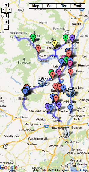Map  of Food Pantries, Supermarkets &#038; UCAT Bus Routes - click for Interactive Version