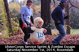 5th Annual UlsterCorps Service Sprint and Zombie Escape
