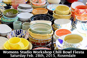 18th Annual Womens Studio Workshop Chili Bowl Fiesta