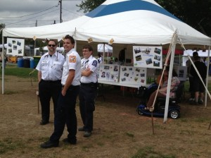 Volunteers from New Paltz Rescue Squad were amongst the Guests of Honor celebrated at the Second Annual Ulster Volunteers Day at the Hudson Valley Harvest Festival.