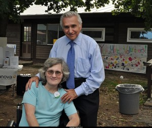 Congressman Maurice Hinchey with Guest of Honor Bonnie Brill, a Red Cross volunteer who assisted at Ground Zero after 911 and helped set up shelters in the aftermath of Hurricane Irene last summer.
