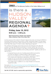 Is There a Hudson Valley Regional Agenda?  June 15, 2012, 8 a.m.-2 p.m.