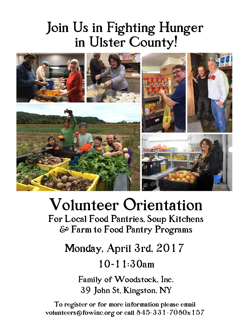 Volunteer Orientation for local Hunger Relief Programs