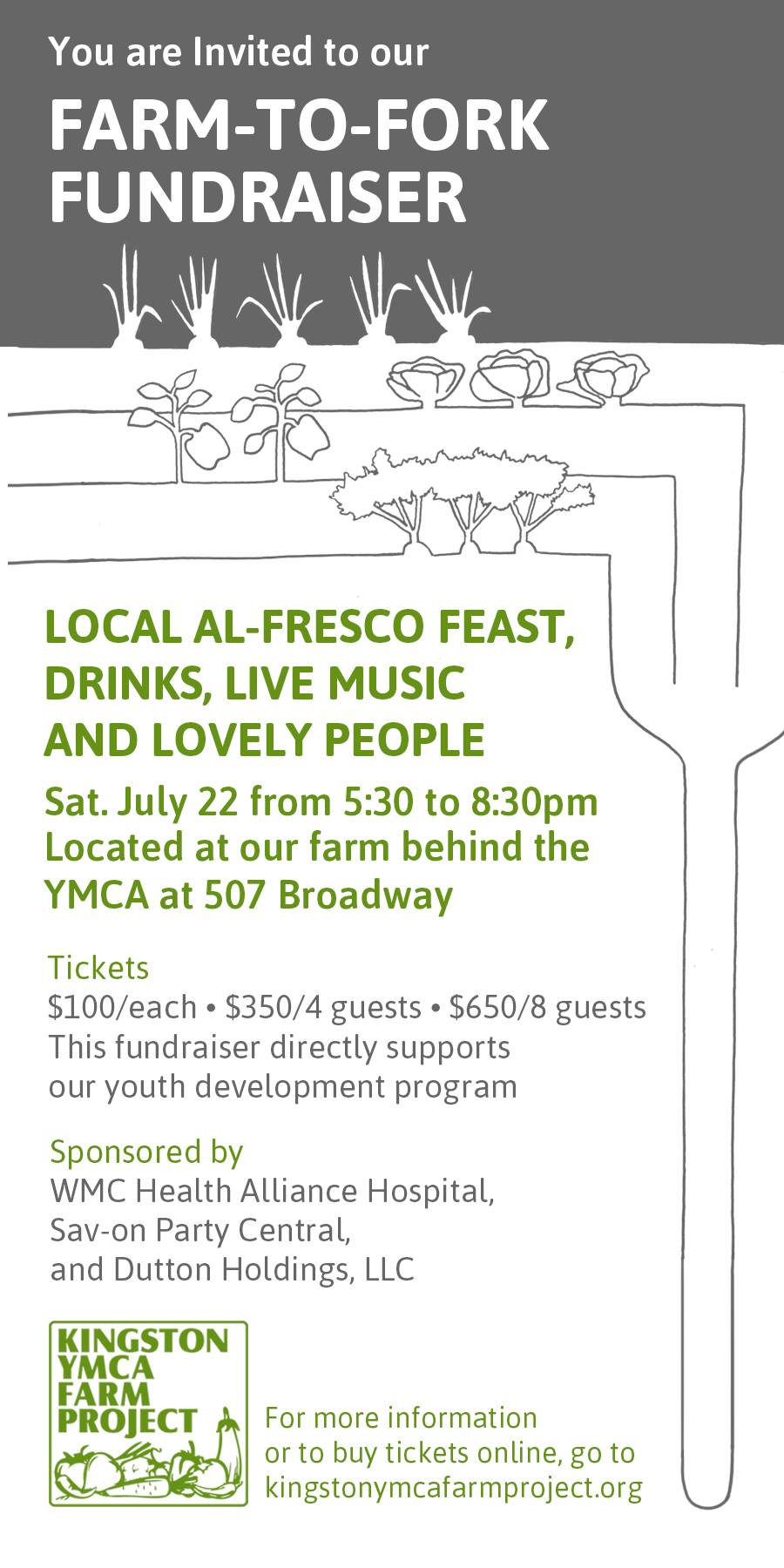 Kingston YMCA Farm Project Farm to Fork Dinner