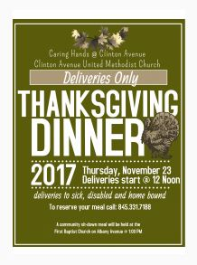 Volunteers Needed for Meal Deliveries and Thanksgiving Day Dinner