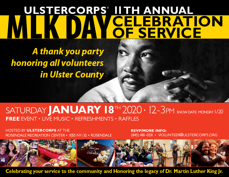 UlsterCorps' 11th Annual MLK Day Celebration of Service